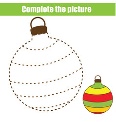 Complete picture children educational game vector