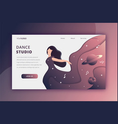 dancing in space landing page vector image