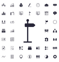 Direction sign icon vector