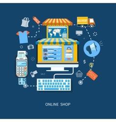 E-commerce infographic concept vector image