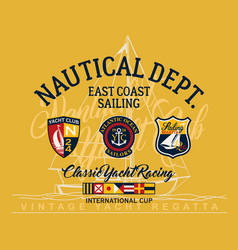 east coast sailing regatta yacht club vector image