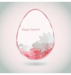 Easter egg pink pale greeting card flower petal vector