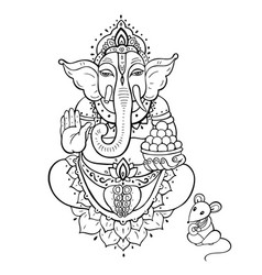 Ganapati lord ganesha vector