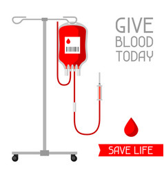 give blood today save life medical and vector image