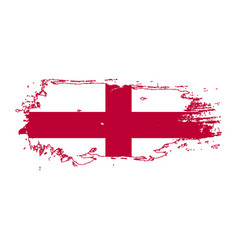 Grunge brush stroke with england national flag vector