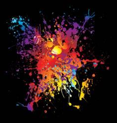 grunge rainbow splat vector image
