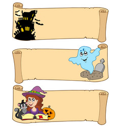 halloween banner collection 3 vector image