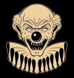 hand drawn angry clown tattoo artwork in vector image