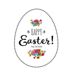 Happy easter card with lettering happy easter vector