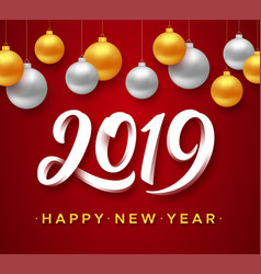 happy new year card design vector image