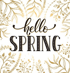Hello spring card vector