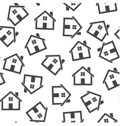 House seamless pattern background icon flat home vector