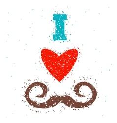 i love mustache vector image