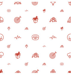 Icon icons pattern seamless white background vector