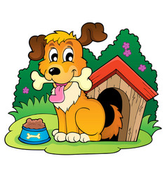 Image with dog theme 4 vector