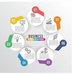 Infographics 7 options template vector