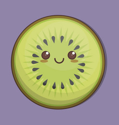 kawaii fruit icon vector image