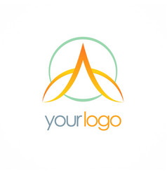 Letter a loop company logo vector
