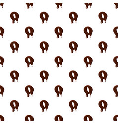letter o from latin alphabet made of chocolate vector image