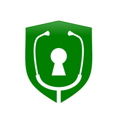 lock doctor protection shield symbol design vector image