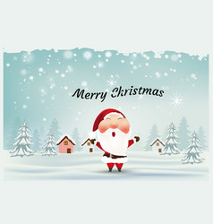Merry christmas and happy new yearsanta claus vector