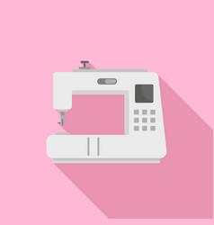 modern sew machine icon flat style vector image
