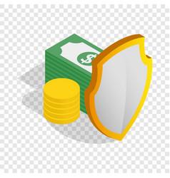 Money savings isometric icon vector