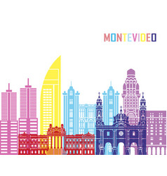 Montevideo skyline pop vector
