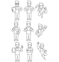 nurse asian male line art vector image