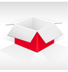 red and white packing box vector image