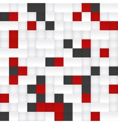 Red black and white mosaic vector