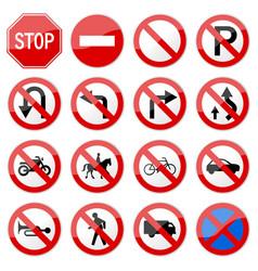 road sign glossy set road sign glossy vector image