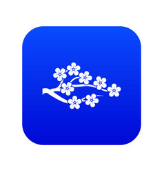 Sakura icon digital blue vector