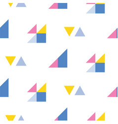 Seamless geometric pattern with bright triangles vector