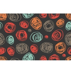 seamless pattern of circles in retro style vector image