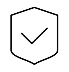 Security shield pixel perfect thin line icon vector