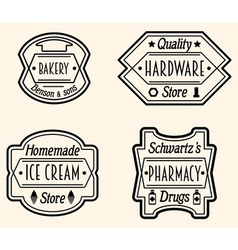 Set of Vintage Badge or Logo Design Elements vector image