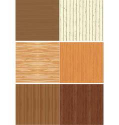 Set wooden texture vector
