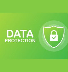 sign data protection privacy and internet vector image