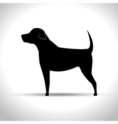 silhouette big dog vector image