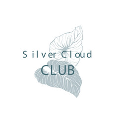 silver cloud club hand drawn logotype template vector image