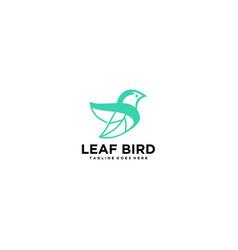 Simple and elegant logo bird vector