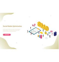 smo social media optimization concept with modern vector image