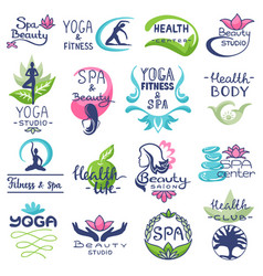 spa logo beauty spa-center logotype vector image