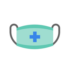 Surgical mask medical and hospital related flat vector