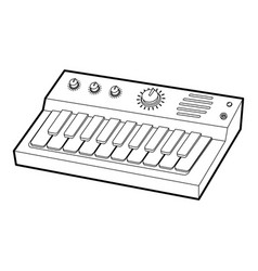 Synthesizer icon outline style vector