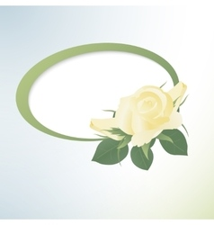 Template card with yellow roses vector image