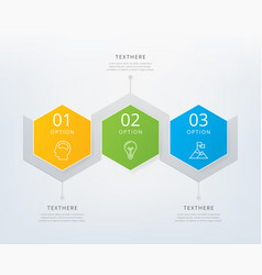 timeline infographic design element vector image
