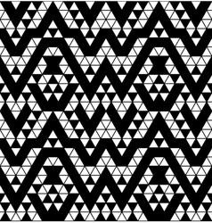 Tribal monochrome lace vector image