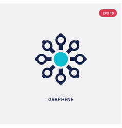 Two color graphene icon from artificial vector